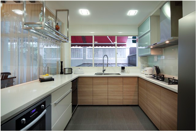 dapur minimalis   Contemporary kitchen, Kitchen interior ...