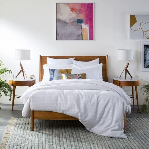 Mid Century Bed Frame Full Acorn Master Bedroom In
