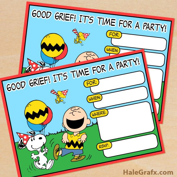 Little Wish Parties FREE Peanuts Party Printables – Birthday Invitations Printables