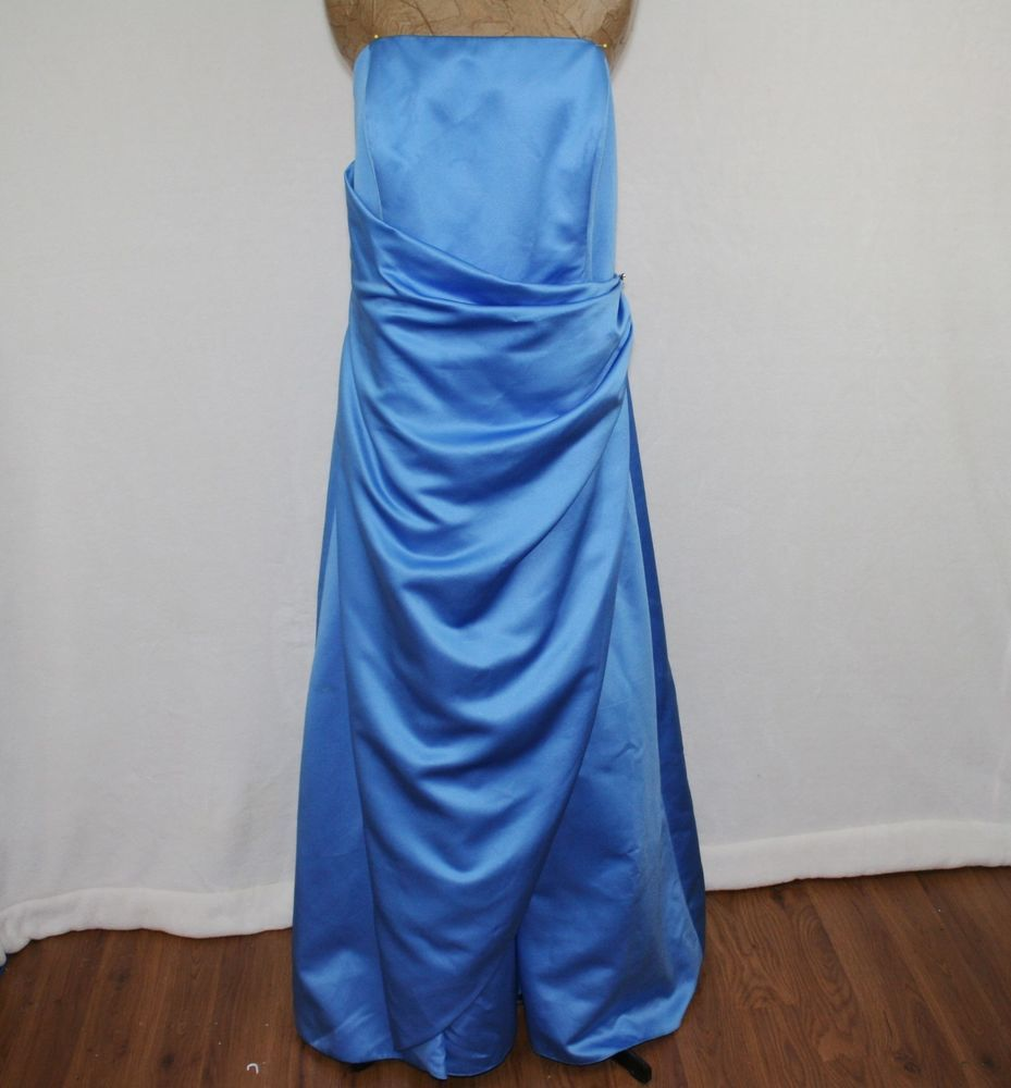 Davidus bridal blue bridesmaid prom dress prom dresses
