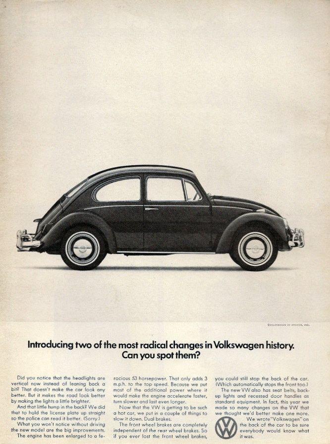 1966 Volkswagen Beetle Ad Radical Changes Maggioloni Volksvagen Volkswagen Auto Classiche