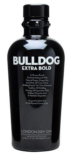 Bulldog Extra Bold Gin    #gin #bulldog #bottle #design #drinks