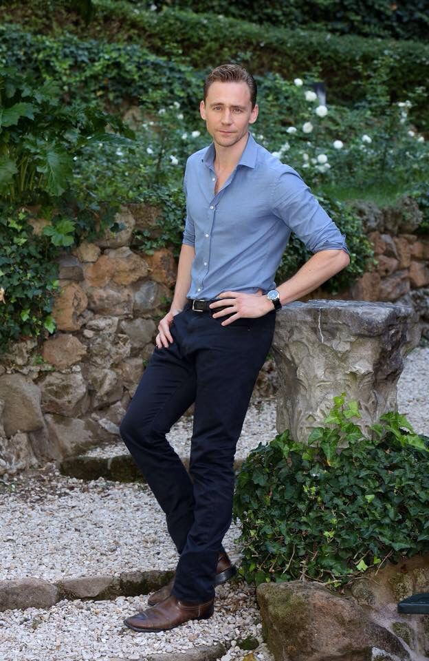 Tom Hiddleston at CrimsonPeak press conference on September 28, 2015 in Rome, Italy.