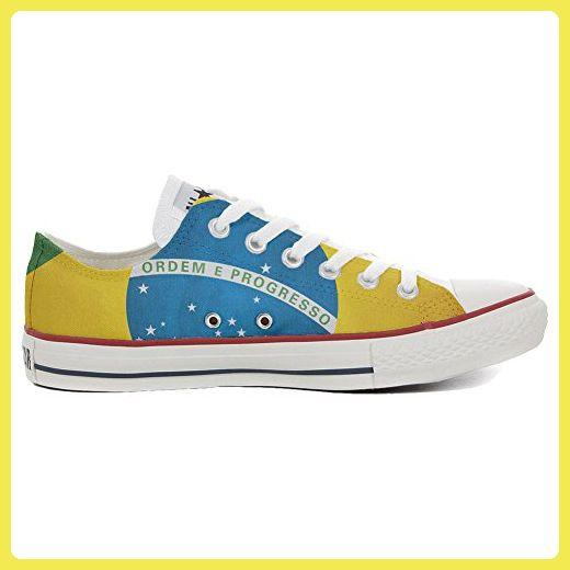 Converse All Star personalisierte Schuhe (Handwerk Produkt) Slim Bandiera Brasile