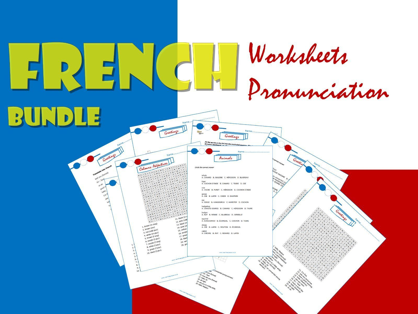 French Worksheet Bundle For Ks2 3