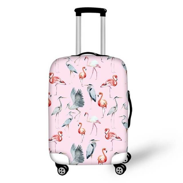 Pastel Flamingo Birds Cover Cute Suitcases Luggage Covers Luggage