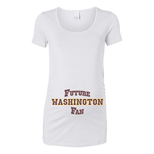 Trunk Candy Womens Future Washington Fan Maternity Top White Medium ** Continue to the product at the image link.Note:It is affiliate link to Amazon.