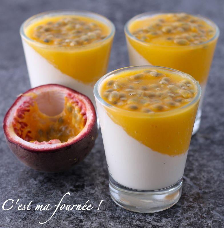 C 39 est ma fourn e panna cotta coco mangue passion cuisine facile et simple pinterest - Panna cotta noix de coco ...