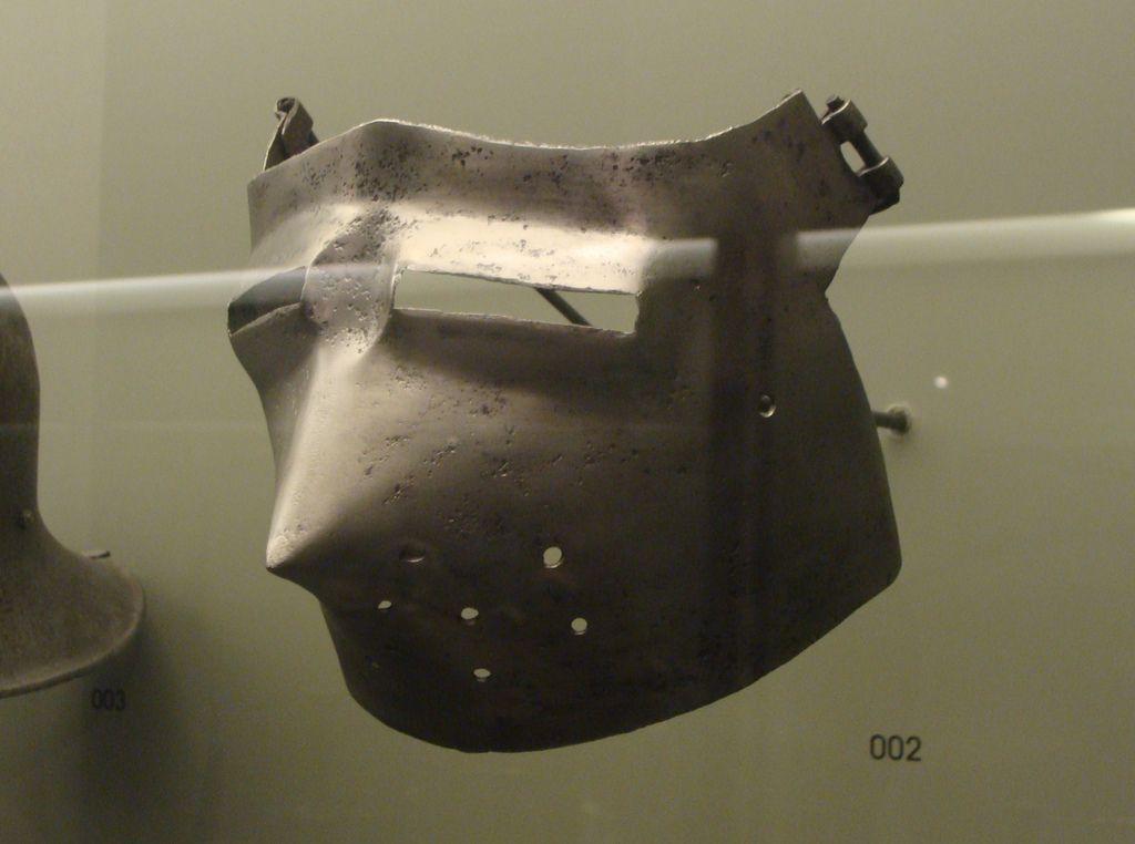ca. 1400 - 'bascinet visor', maybe Italian, Le Grand Curtius, Liège, Belgium