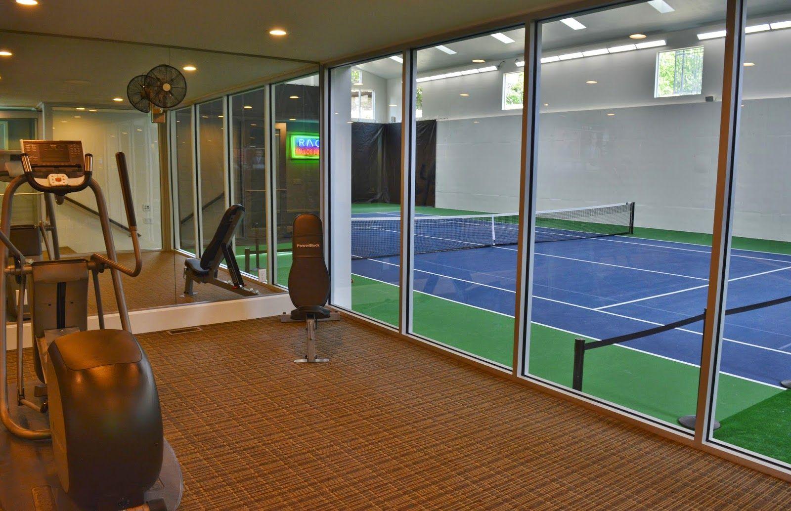 Utah house that has an indoor tennis court interior for Utah basement