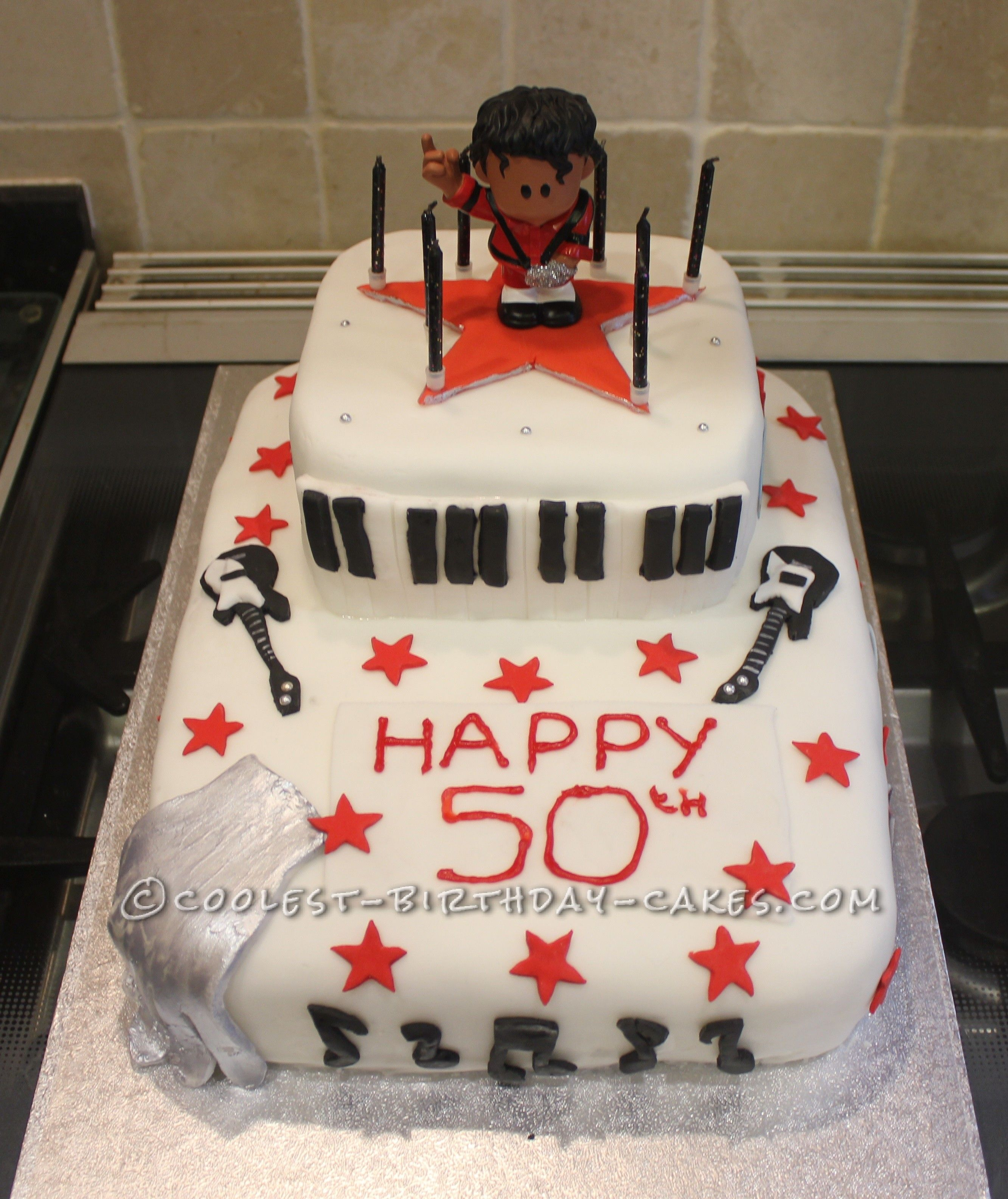 Remarkable Michael Jackson 50Th Birthday Cake With Images 50Th Birthday Personalised Birthday Cards Veneteletsinfo