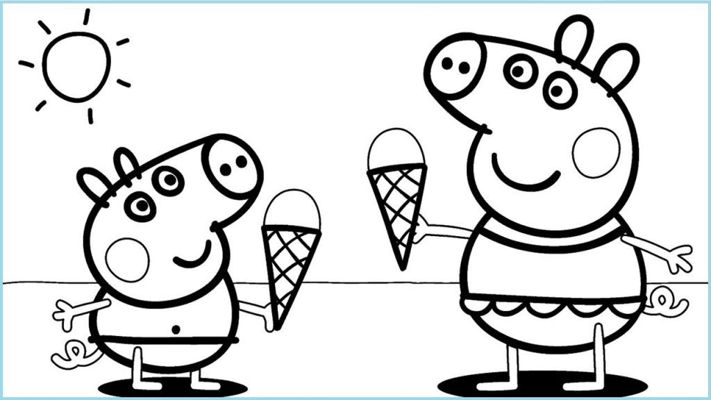 Free Printable Ice Cream Coloring Pages For Kids | Peppa pig ...