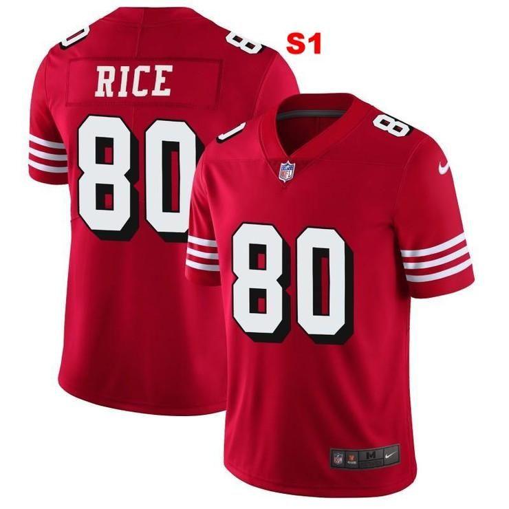 84786a865 Men 80 Jerry Rice Jersey Football San Francisco 49ers Jersey ...