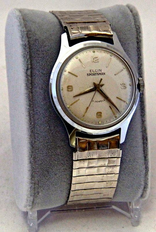 vintage elgin sportsman men s manual wind wrist watch 17 jewels rh pinterest com hamilton manual winding wrist watches Tissot Manual Wind Watches