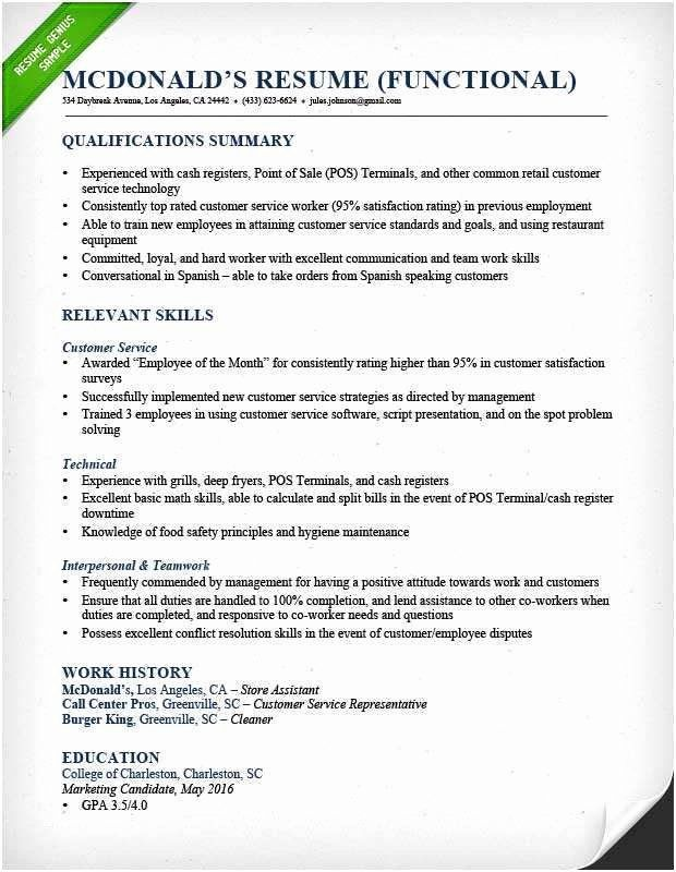 Core Qualifications Resume Examples Inspirational Preferred