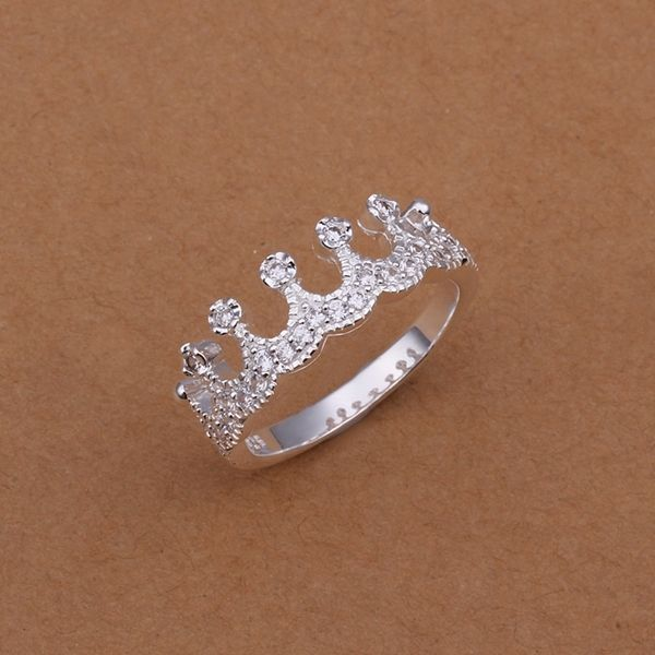 Free shipping wholesale solid silver fashion jewelry Inlaid crown Ring XUSR254