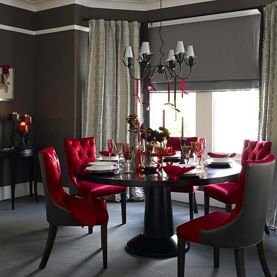 Peachy This Elegant Red Velvet Dining Room Furniture Is Luxurious Uwap Interior Chair Design Uwaporg