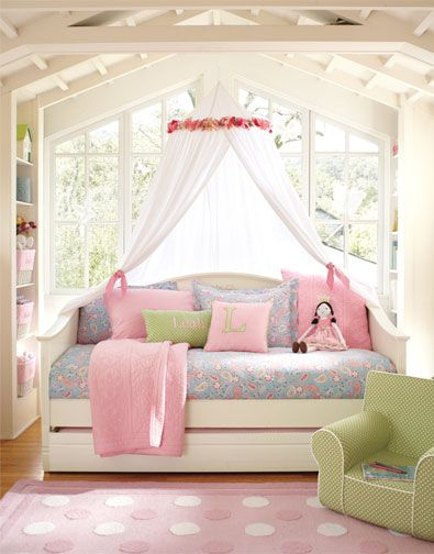 Canopy Bedroom Sets Girls dream bedroom for my daughter, love the windows and the canopy