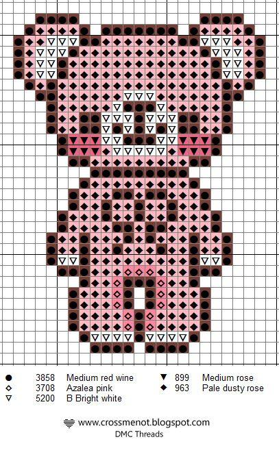 Ourson 9 24 Point De Croix Les Nounours Pinterest Cross