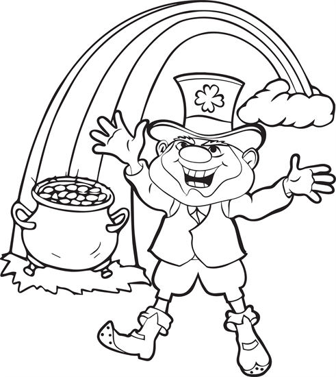 leprechaun coloring page 3 - Leprechaun Coloring Page