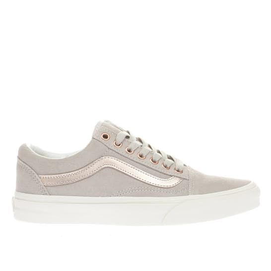 14f4838a93 womens light grey vans old skool trainers