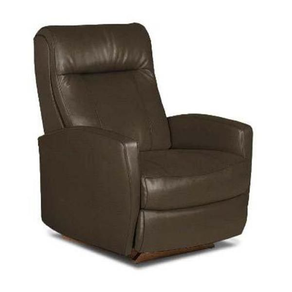 Espresso Brown Leather Performance Fabric Rocker Recliner ...