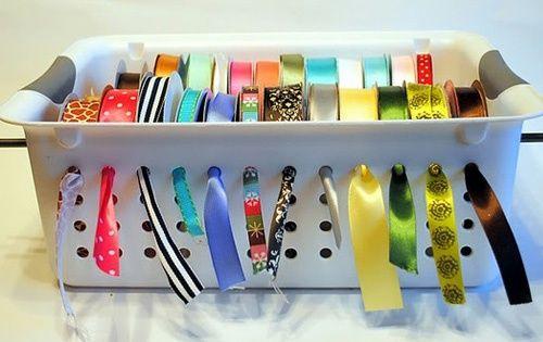 Christmas storage - ribbon storage ideas de manualidades