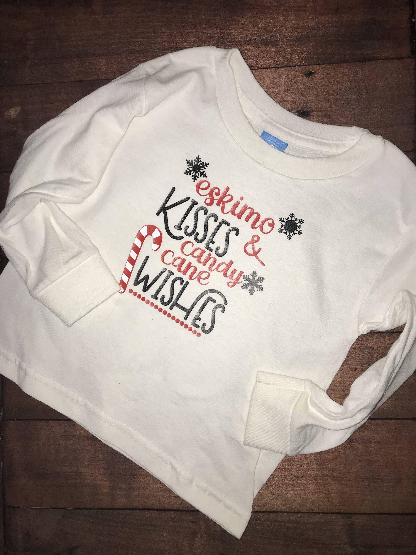 Christmas shirt, kids christmas shirt, Candy cane wishes, Eskimo ...