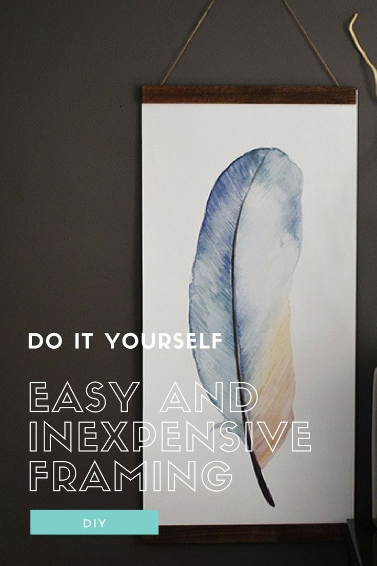 Easy and Inexpensive Framing | Free printables, DIY ideas and Easy