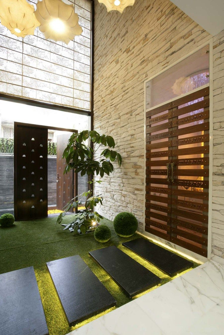 Ar anil ranka incorporates the innovative idea of vertical gardens for this pune bungalow magnamags