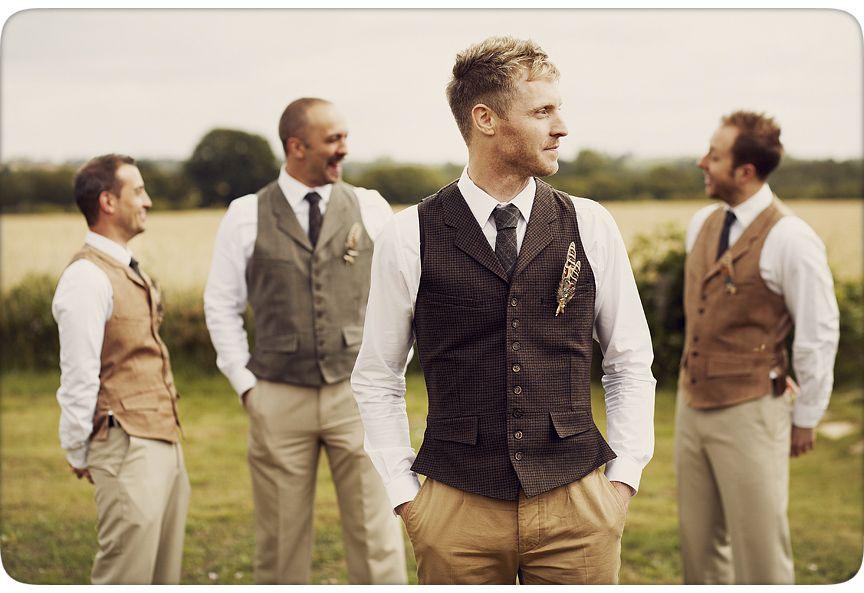 groom and ushers in tweed waistcoats mickey lee birkin. Black Bedroom Furniture Sets. Home Design Ideas