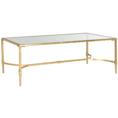 House Of Hampton Adira Coffee Table Reviews Wayfair A Place To - Wayfair gold coffee table
