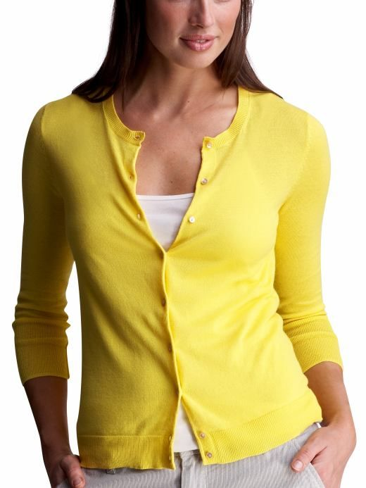 Yellow Cardigan For Women I always like this basic look