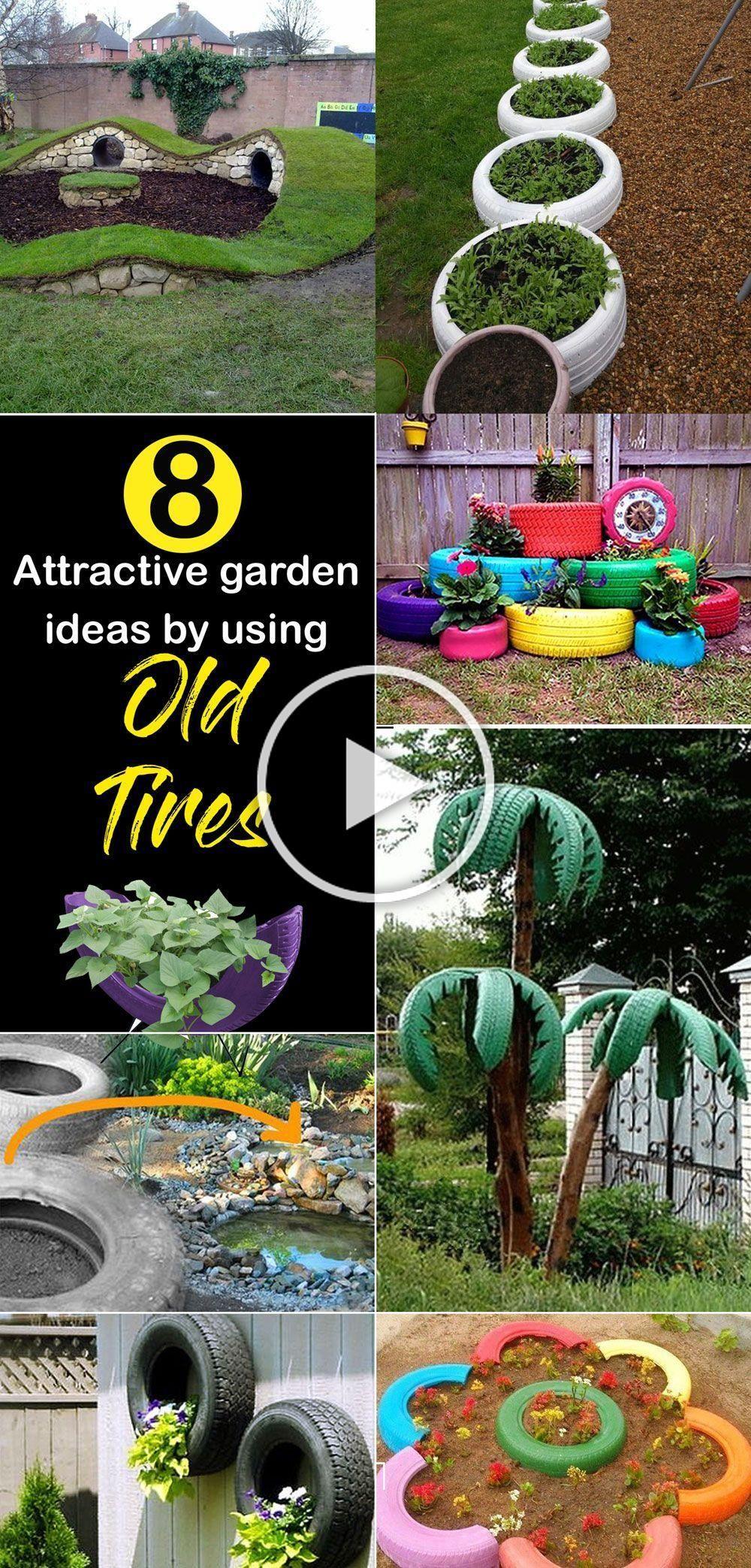 Old Tires Garden How To Make Tire Garden Diy Projects Old Tires Garden How To Make Tire Garden Diy P In 2020 Tire Garden Diy Garden Projects Garden Projects