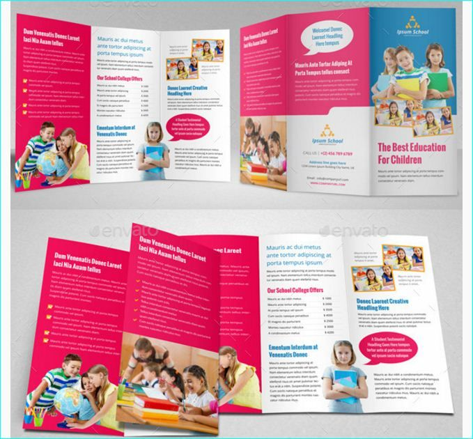 School Brochure Template For Education Institution School - Online brochure template