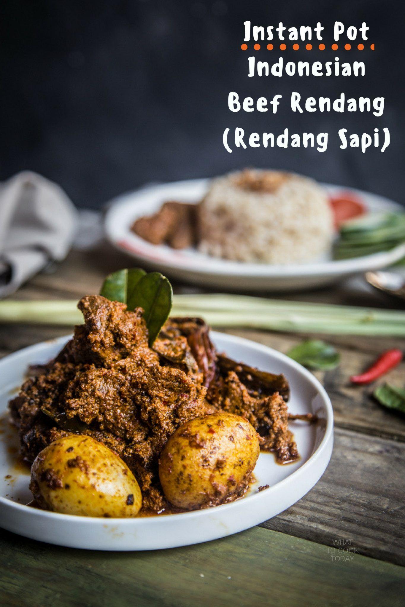 Rendang Sapi Indonesian Beef Rendang Instantpot Beefrendang