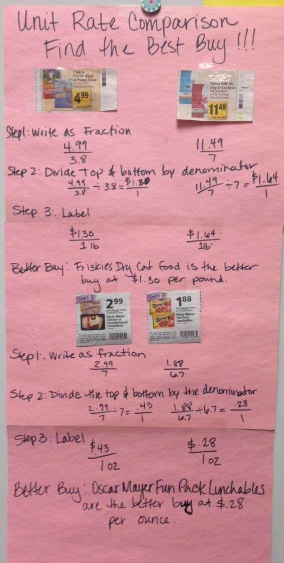 9+ Better Deal Math Worksheet Answer Key - Math | Middle ...