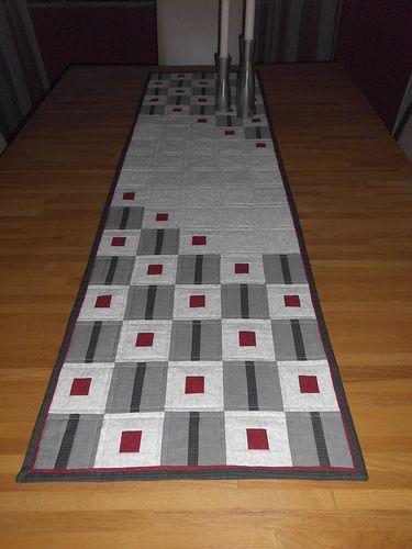 Tischläufer Modern winterzeit tischläufer tablerunners patchwork and quilt table runners