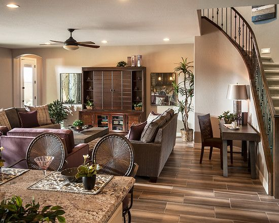 Alluring Traditional Interior With Modern Furniture: Comfortable Family  Room Interior Design Finished With Best Chairs