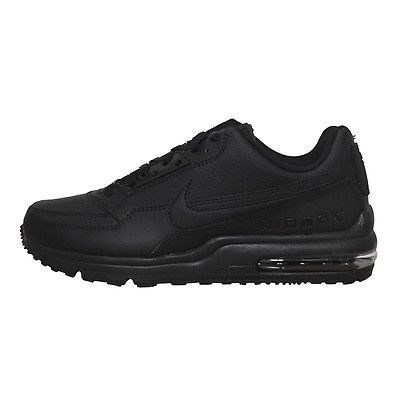 buy popular 1cd44 33cf2 Nike Air Max Ltd 3 Mens 687977-099 All Black Leather Running Shoes Size 13  ...