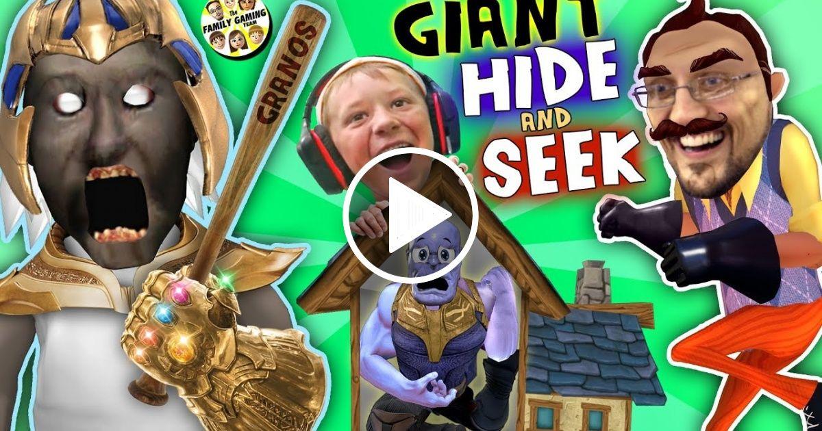 GRANNY's HOUSE Hide 'n Seek! HELLO NEIGHBOR GIANT vs MINI
