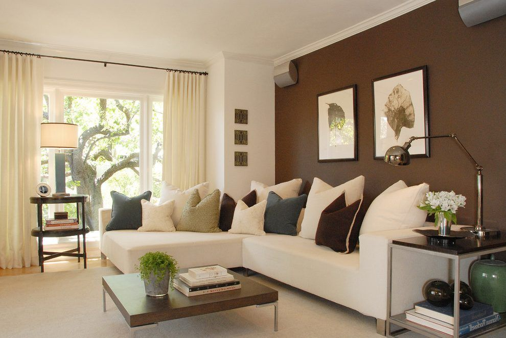 Brown Accent Wall Ideas Family Room Modern With Accent Walls In Living Room Living Room Color Small Room Decor