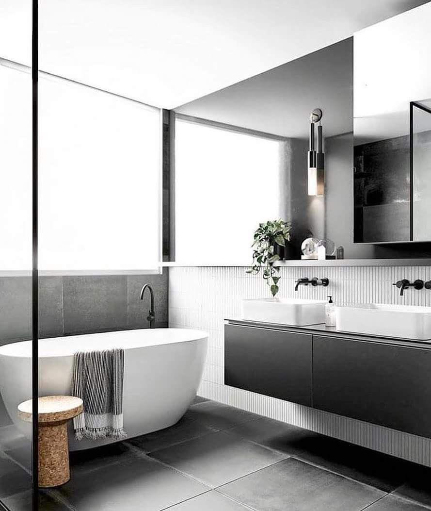 Crisp White Bath Next To The Rich Vanity! Ying & Yang