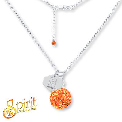 Syracuse University Ball Necklace Sterling Silver