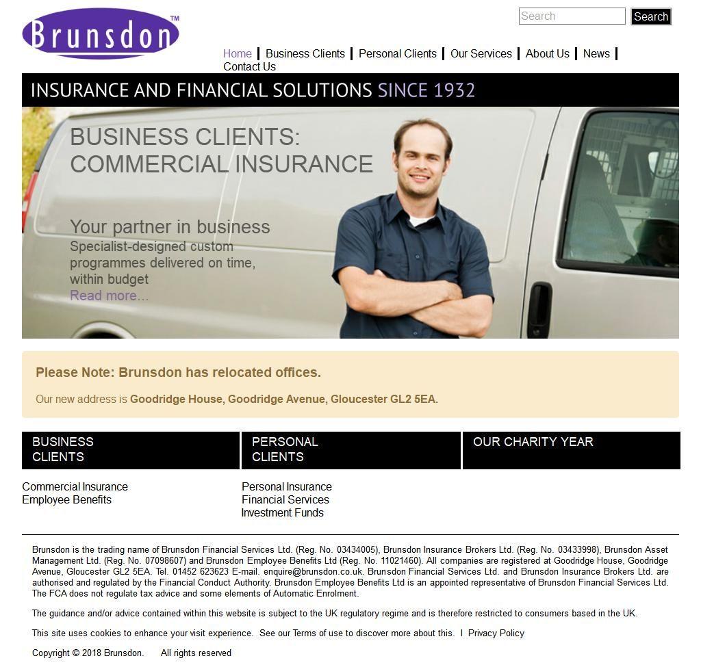 Brunsdon Group Insurance Brokers Barnwood Business Centre Barnett Way Gloucester Gloucestershire Gl4 3bx Gloucestershire Commercial Insurance Business Centre
