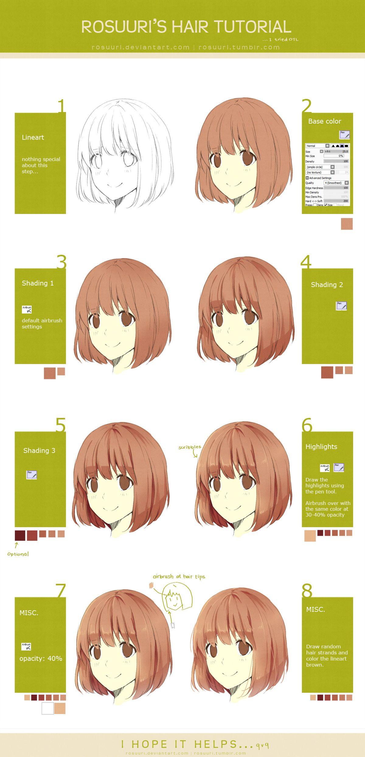 Hair Tutorial by on deviantART