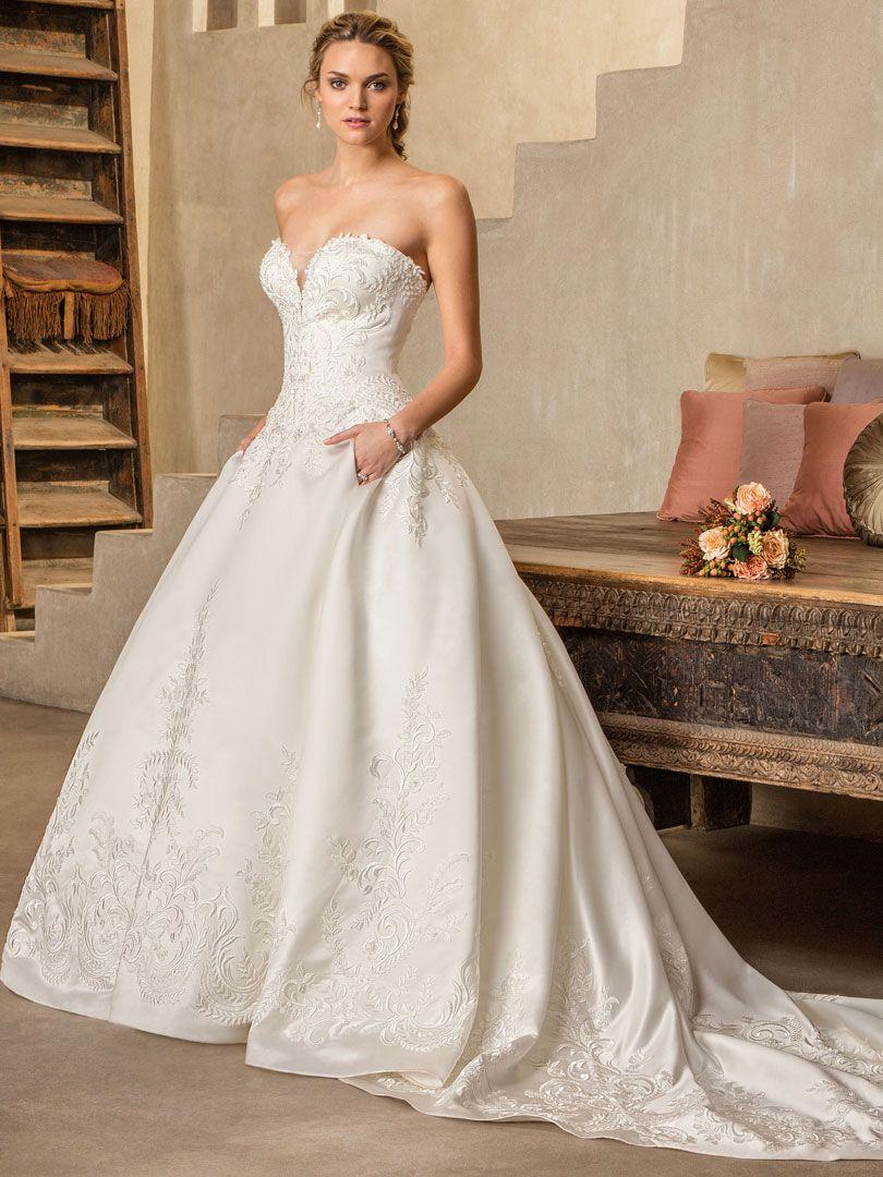 Style 2303 Oleander Ivory Ivory Silver Wedding Dresses Satin A Line Wedding Dress Wedding Dress With Pockets [ 1080 x 810 Pixel ]