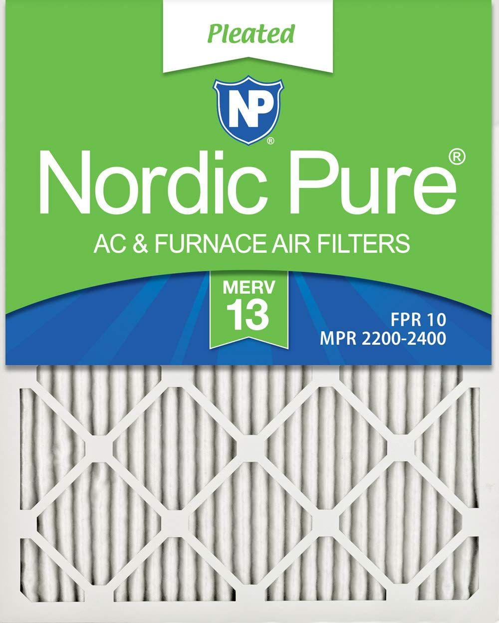 3 Pack 3 Piece Nordic Pure 10x20x1 MERV 8 Pleated AC Furnace Air Filters