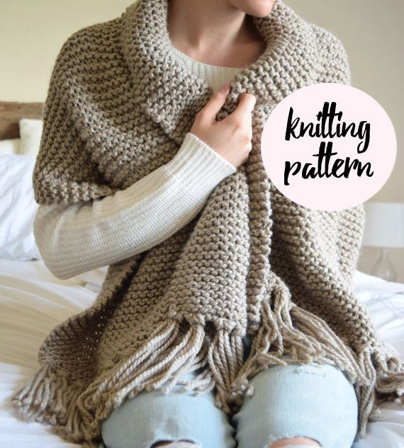 Ultimate Blanket Scarf Knitting Pattern / Chunky Thick Warm Scarf ...