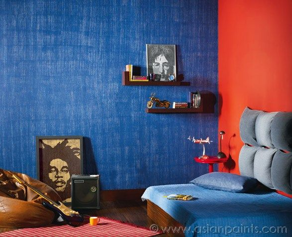 Royale play textile for children 39 s room interiors house for Asian paints interior wall designs